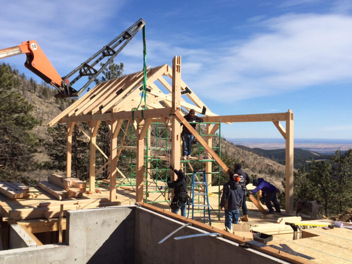 Timberframe Construction in Colorado