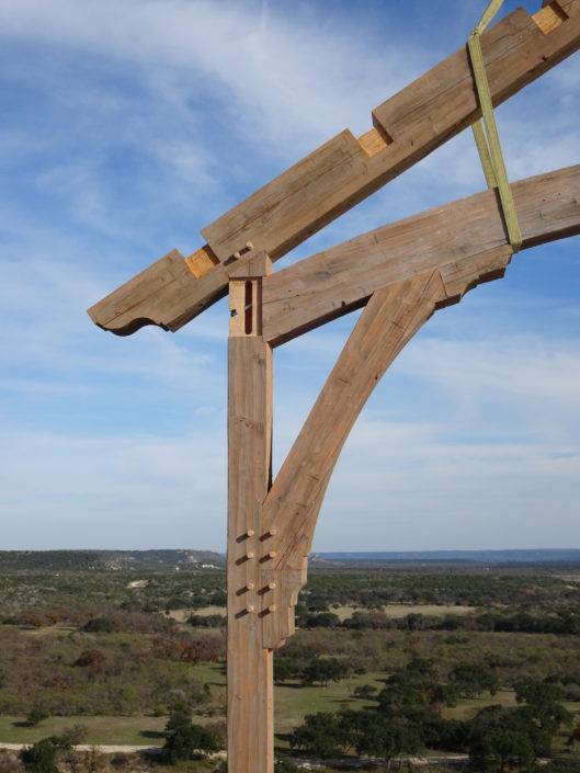 Timberframe Contstruction Hill Country Ranch Texas