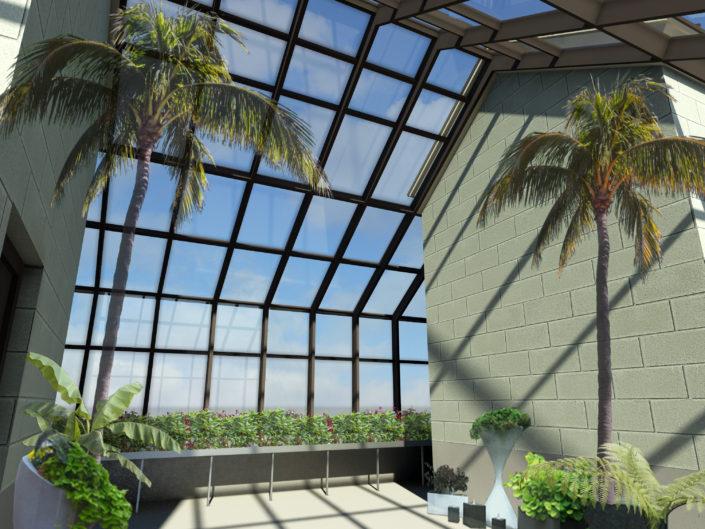 Custom Greenhouse Interior Rendering