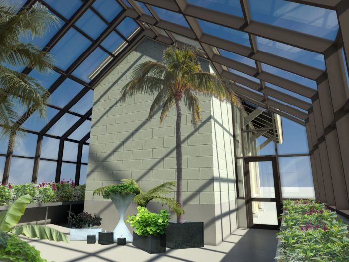 Greenhouse Interior Rendering