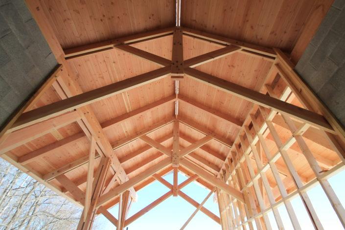 Scissor Truss Construction Greenhouse