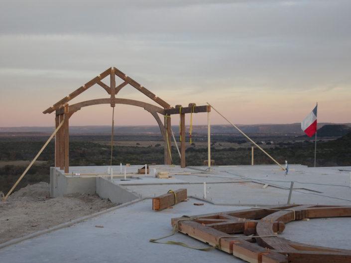 Timberframe Construction Ranch Texas