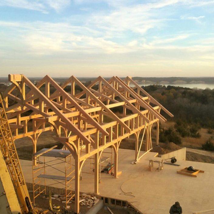 Timberframe Construction Custom Home South Dakota