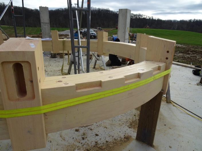 Timberframe Pavilion Construction