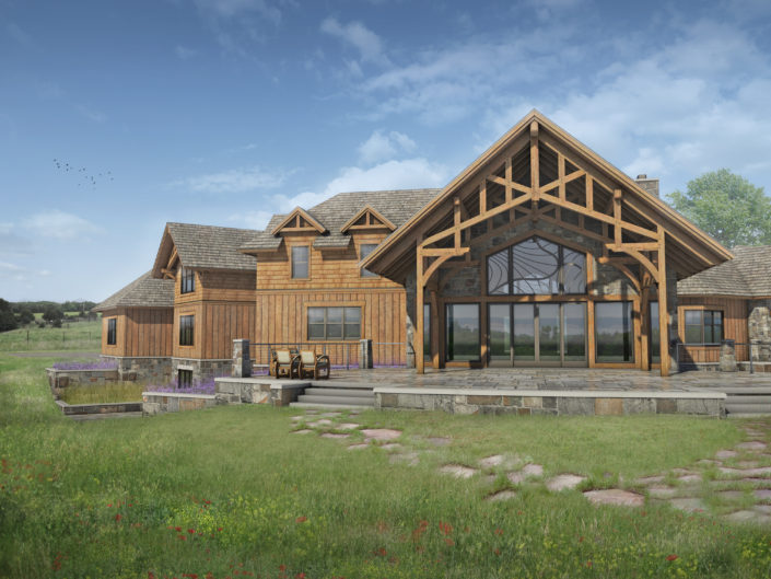 Timberframe Rendering South Dakota Home Designs
