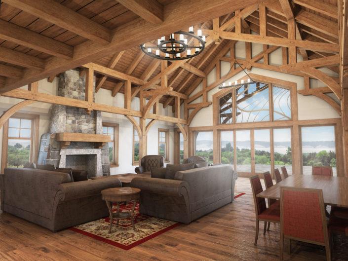 Timberframe Rendering home South Dakota