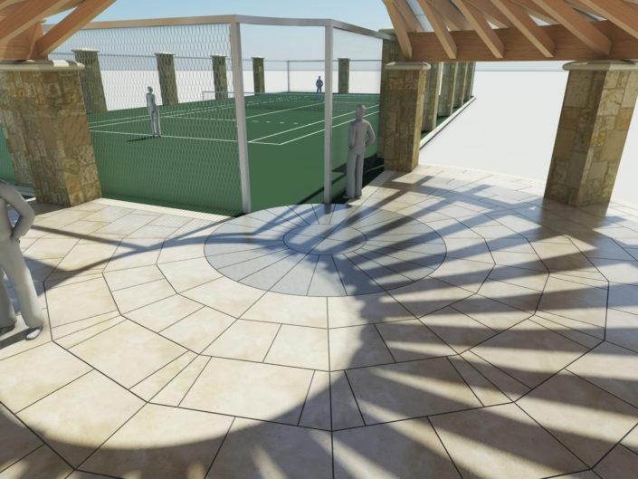 Tennis Court Rendering