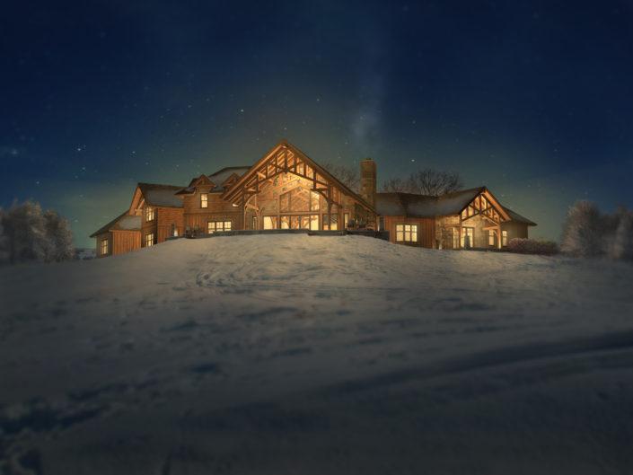 Timberframe Rendering South Dakota Homes