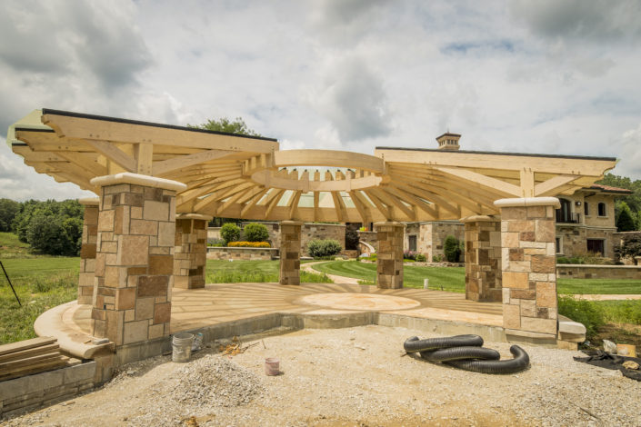 Tennis Courts Timberframe Construction