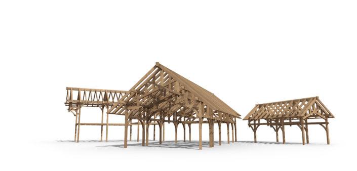 Timberframe Rendering South Dakota Construction