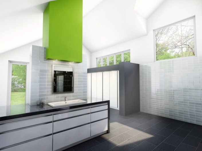 Architecture Render Bathroom Addition Indianapolis