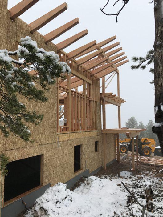 Colorado New Home Construction Timberframe