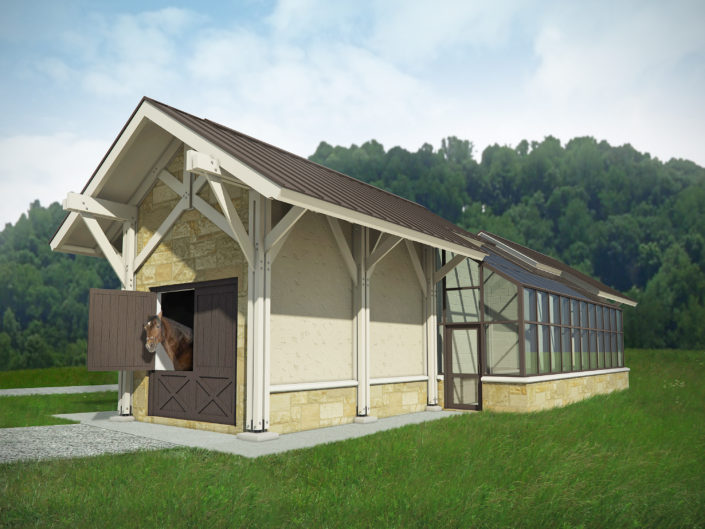 Timberframe Rendering Architecture Greenhouse