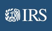 IRS WHITE AND BLUE LOGO
