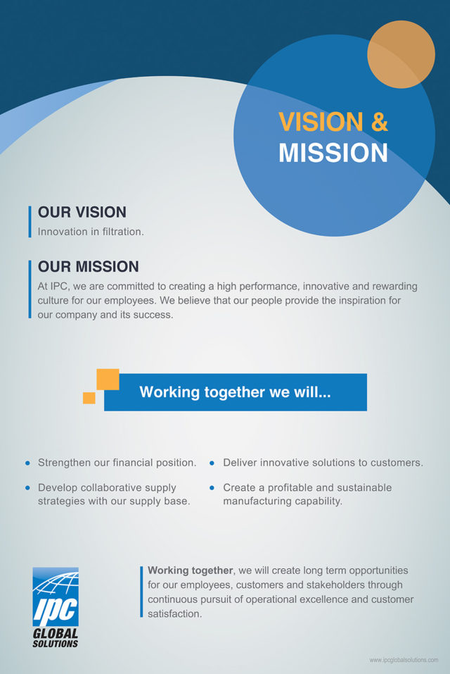 IPC Global Solutions — Mission & Vision, Quality Policy Posters