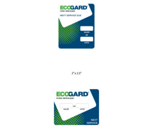ecogard service reminder stickers designed by matt wilson