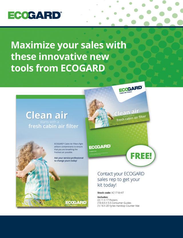ecogard cabin air filter tecnician's guide inside cover design by matt wilson