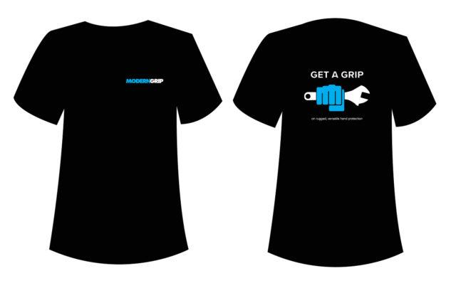 modern grip t-shirt design by matt wilson