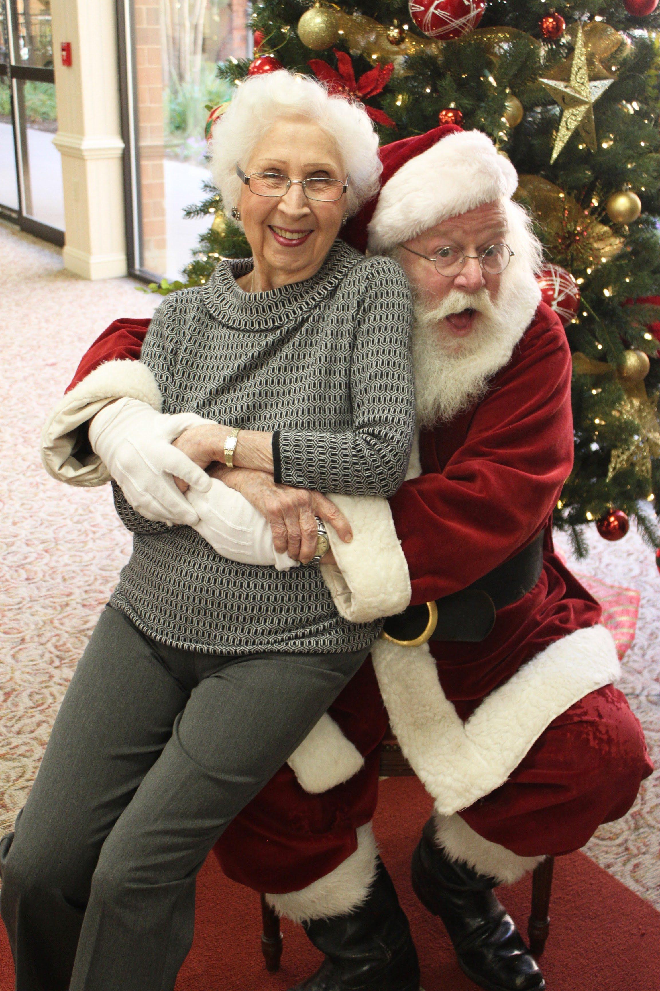 Lady on Santa's lap