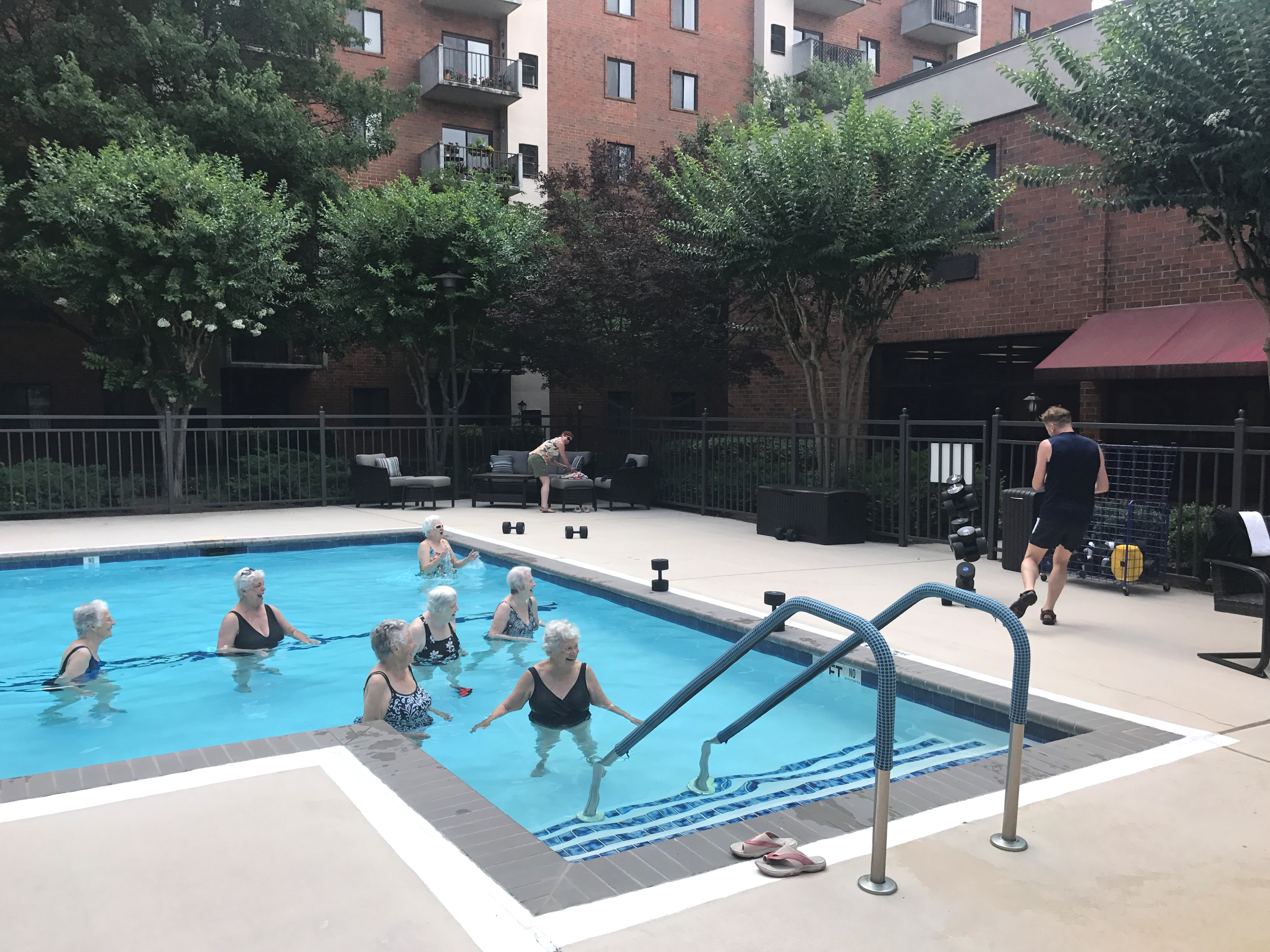 Exercise in pool at MTV