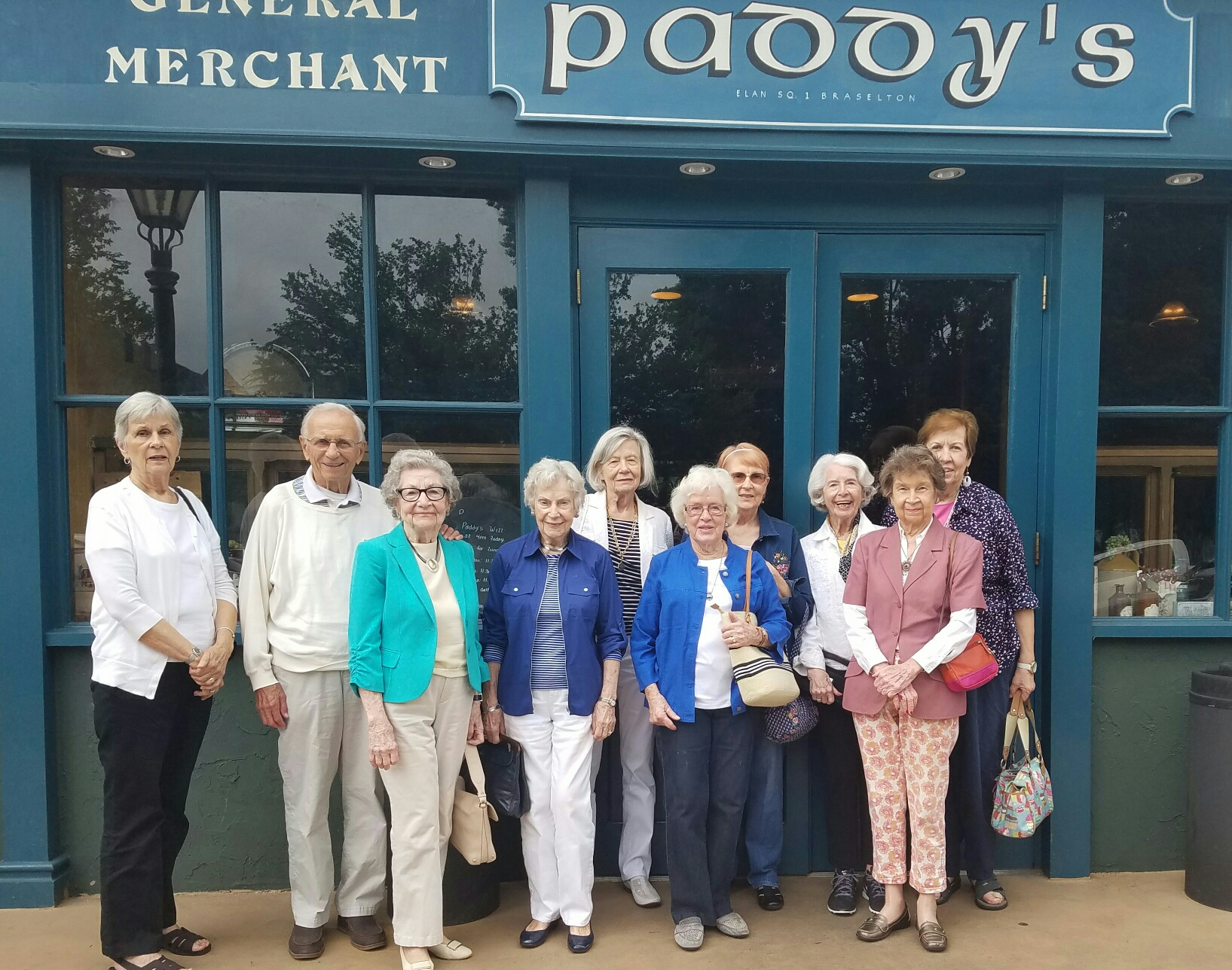 Ladies on staycation visiting Paddy's general merchant