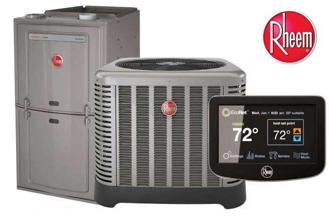 Rheem furnace air thermostat logo