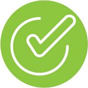 Green Circle With Checkmark Icon Inside
