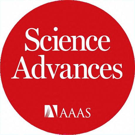 Science Advances Logo - White serif type inside red circle