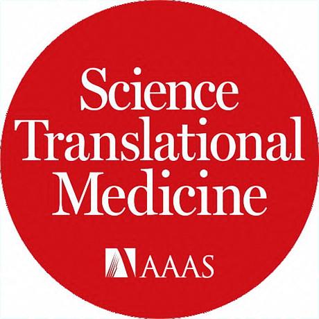 Science Translational Medicine Logo - White serif type inside red circle