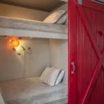 bunk with barn door