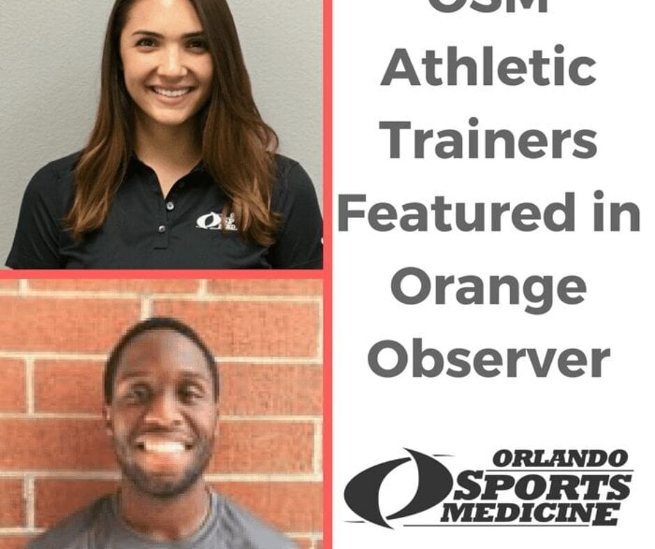 OSM Athletic Trainers Featured in Orange Observer