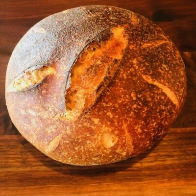 Sourdough bread and a variety of baked goods is available for sale at Almosta Farm in Oregon near La Grande in Cove, Oregon