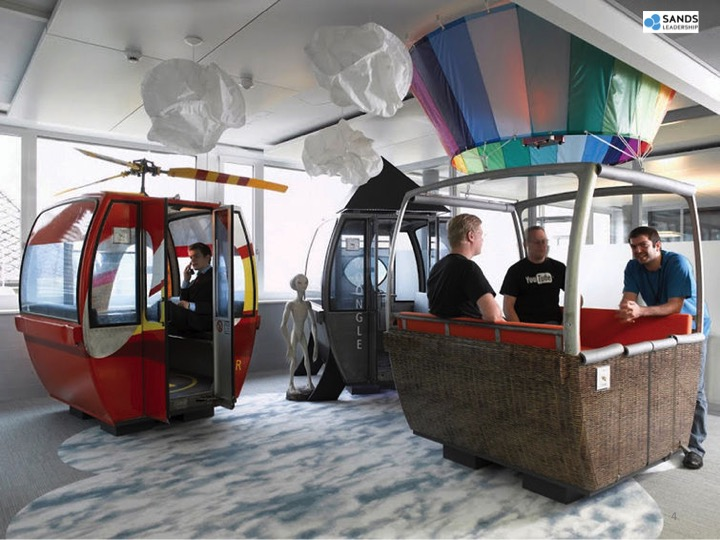 Google's approach to engagement includes gondolas