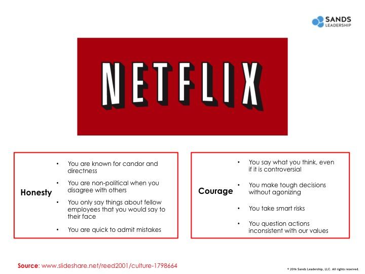 Netflix culture values