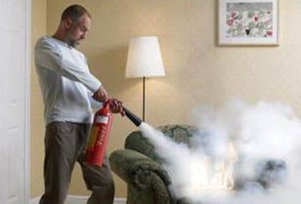 extinguishing couch fire