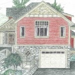 concept sketch house exterior arts and crafts style