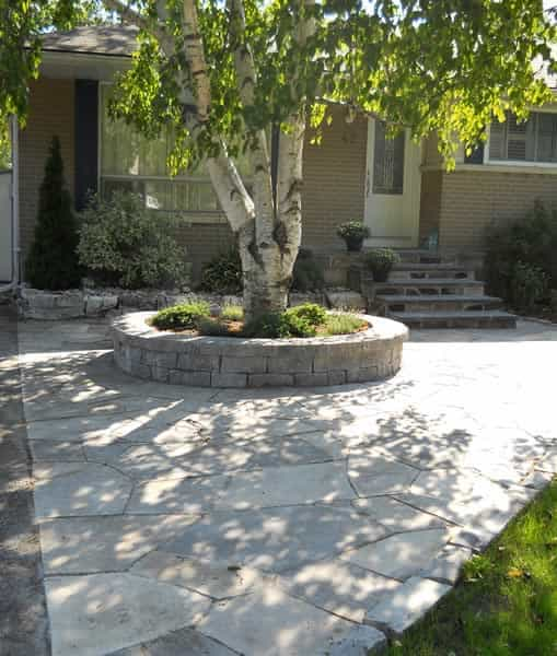 Flagstone walkway and step covering