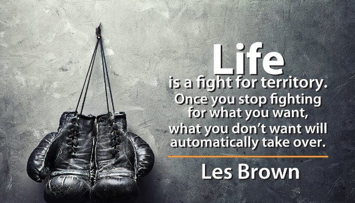 confidence meme Les Brown
