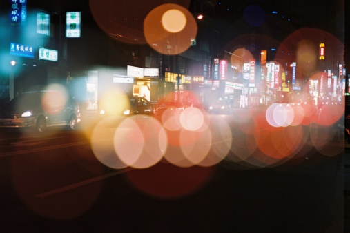 downtown city boulevard