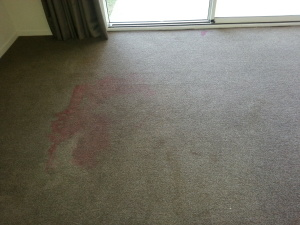 red stain before