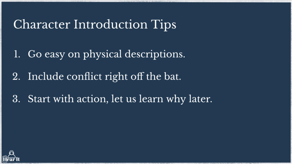 Character Introduction Tips