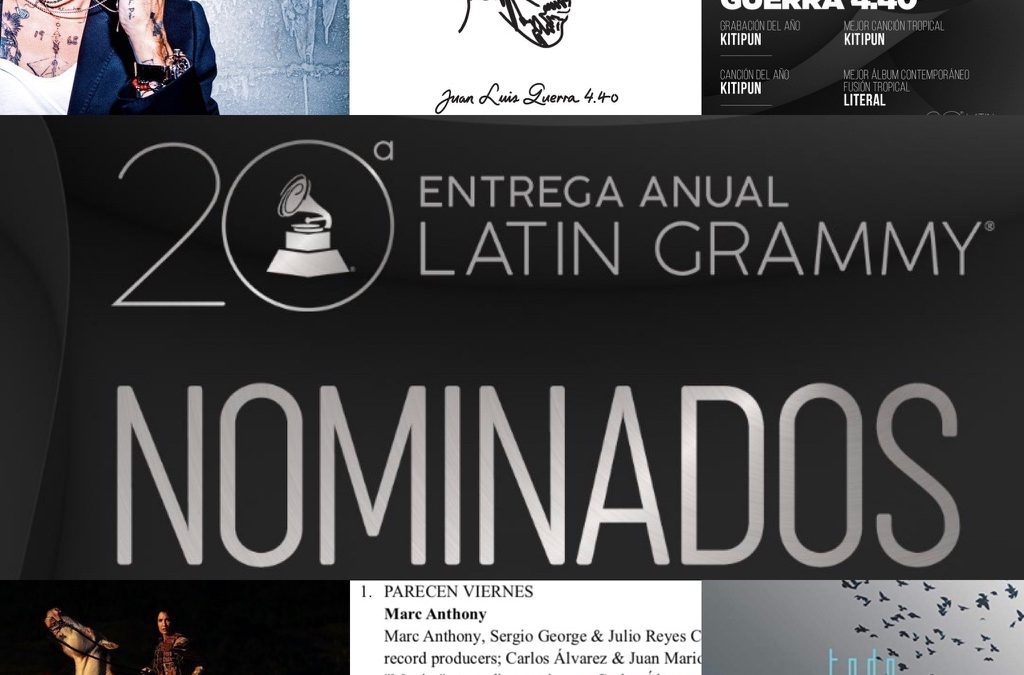 Adam Ayan has 2 nominations for the 20th Annual Latin Grammy Awards, as well as a total of 4 nominated recordings across 7 categories.