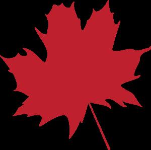 red leaf outline -1674793