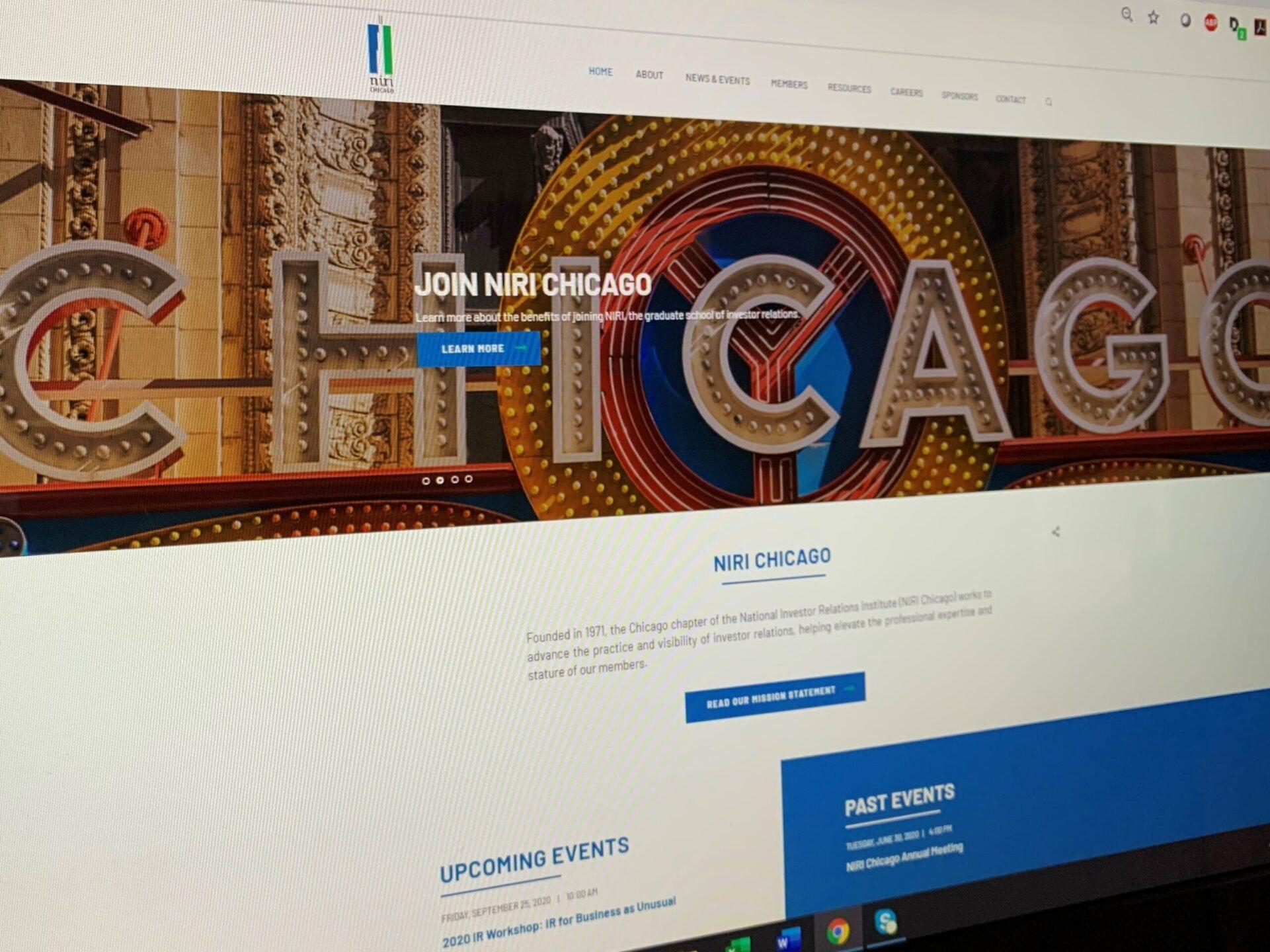 NIRI Chicago 2020 website redesign