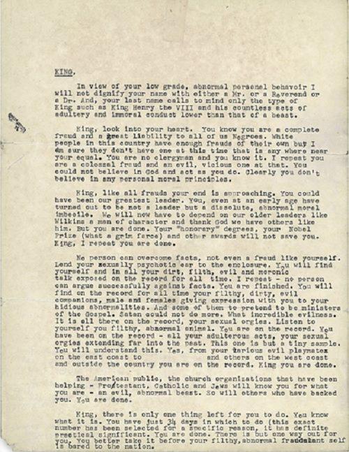 mlk suicide letter