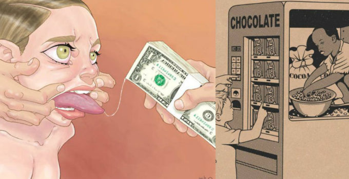 20 Controversial Art illustrations Exposing The Madness Of Our World