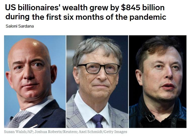 billionaires richer pandemic