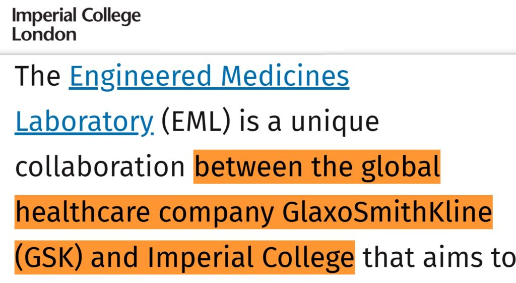 imperial college london conflicts of interest