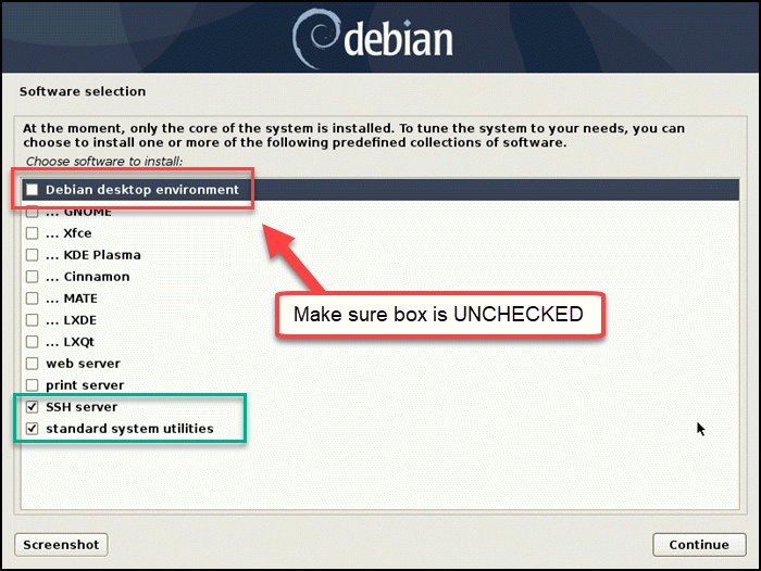 Debian-install-choose-software