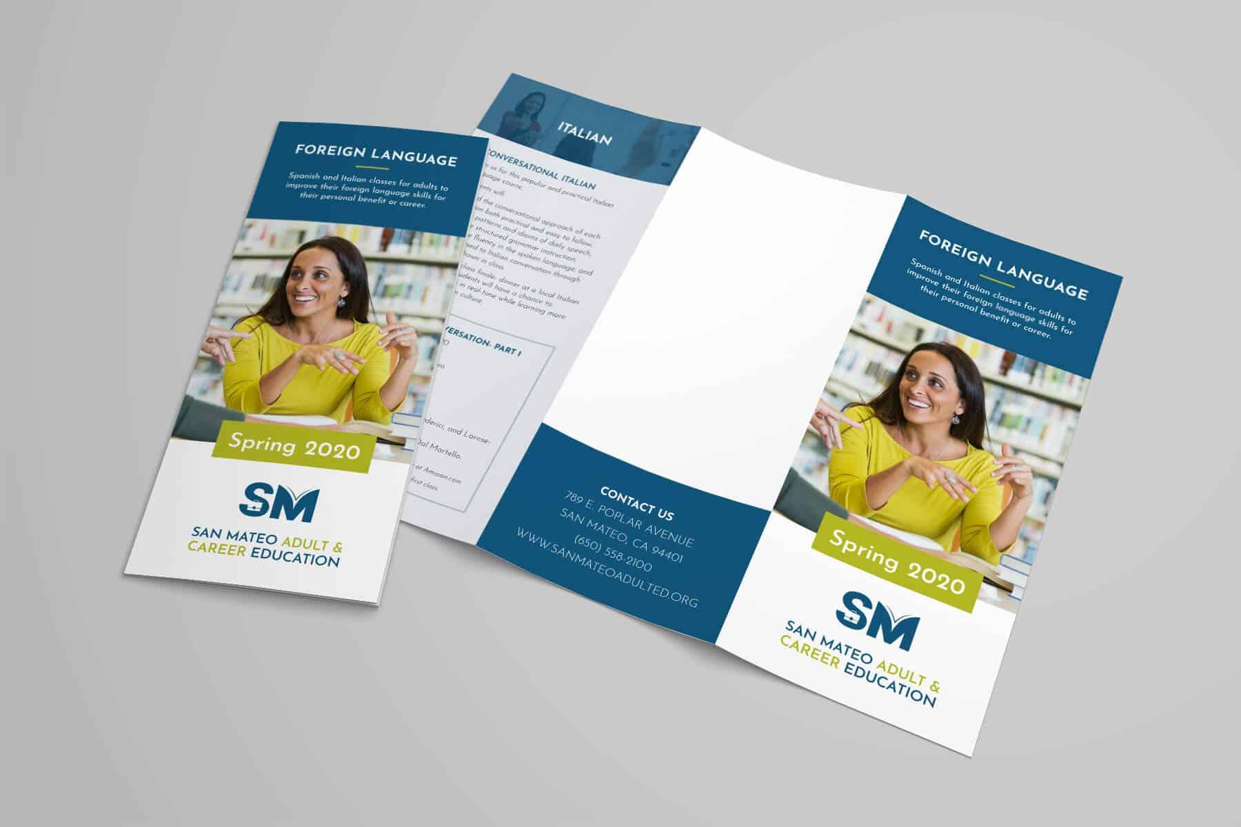 San Mateo Adult & Career Education Brochure Design